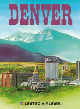 Denver, Colorado - The Mile High City - United Air Lines by Michael Hagel