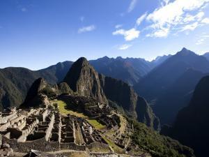 Machu Picchu, Ruins Leftover from the Inca Empire, in Peru by Michael Hanson