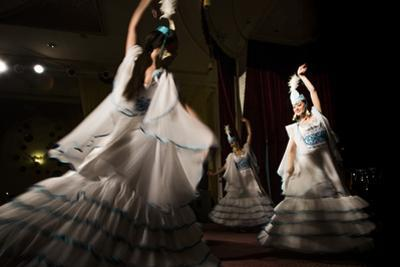 Traditional dancers in Astana, the newly built capital of Kazakhstan. by Michael Hanson