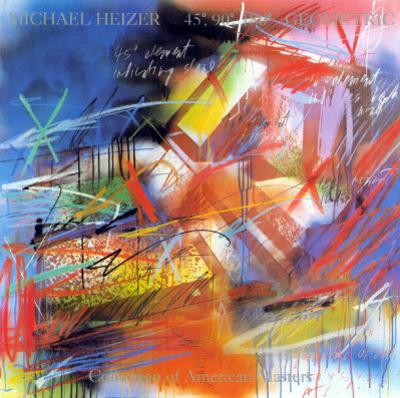 45, 90, 180 Geometric, 1983 by Michael Heizer