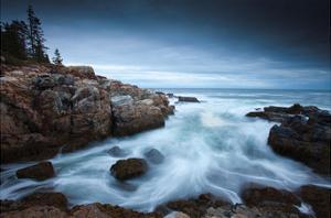 Dawn in Acadia by Michael Hudson