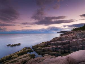 Dusk Along the Maine Coast by Michael Hudson