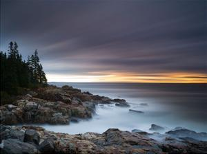 Misty Coastline by Michael Hudson