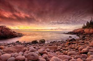 Sunrise, Monument Cove by Michael Hudson