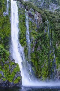 Huge Waterfall in Milford Sound by Michael
