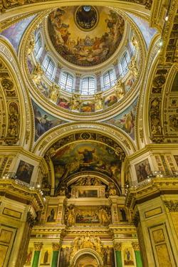 Interior View of St. Isaac's Cathedral, St. Petersburg, Russia, Europe by Michael