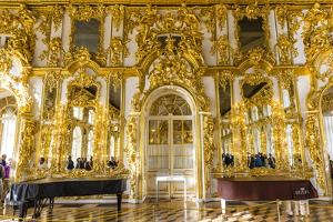 Interior View of the Opulence in the Great Hall of the Catherine Palace by Michael