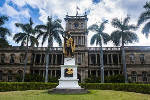 Iolani Palace, Honolulu, Oahu, Hawaii, United States of America, Pacific by Michael