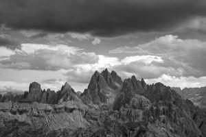 dark clouds over Cadini di Misurina, Dolomites, Italy by Michael Jaeschke