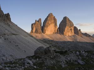 Evening at Tre Cime di Lavaredo, Sexten Dolomites nature reserve, Italy by Michael Jaeschke