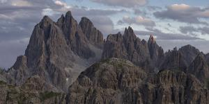 Evening clouds over Cadini di Misurina, Dolomites, Italy by Michael Jaeschke