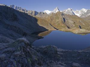 Lacs de Fenetre, Mont Blanc, Grand Jorasses, Val Ferret, Valais, Switzerland by Michael Jaeschke