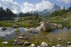 Lago Federa, Rifugio Palmieri, Croda da Lago, Dolomites, Italy by Michael Jaeschke