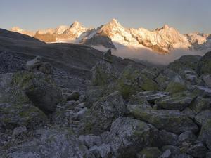 Morning light on the Fenetre de Ferret, Valais, Switzerland by Michael Jaeschke