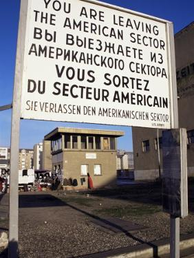 Checkpoint Charlie, Border Control, West Berlin, Berlin, Germany by Michael Jenner