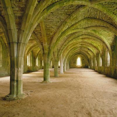 Cistercian Refectory, Fountains Abbey, Yorkshire, England