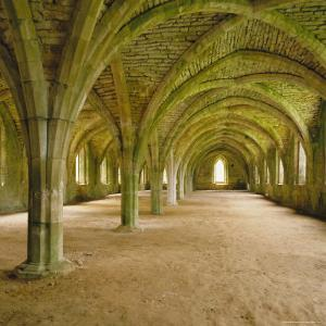 Cistercian Refectory, Fountains Abbey, Yorkshire, England by Michael Jenner