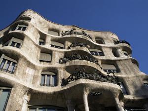 Gaudi's Casa Mila (La Pedrera), Unesco World Heritage Site, Barcelona, Catalonia, Spain by Michael Jenner