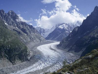 La Mer De Glace Glacier, Chamonix, Savoie (Savoy), France