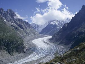 La Mer De Glace Glacier, Chamonix, Savoie (Savoy), France by Michael Jenner