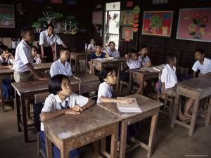 Primary School, Bangkok, Thailand, Southeast Asia by Michael Jenner