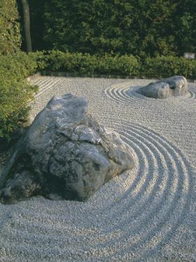 Raked Stone Garden, Taizo-In Temple, Kyoto, Honshu, Japan by Michael Jenner