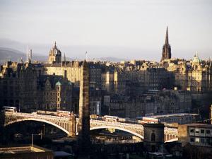 View of City from Calton Hill, Edinburgh, Lothian, Scotland, United Kingdom by Michael Jenner