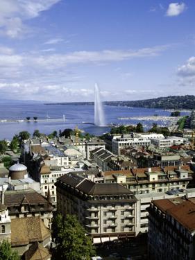 View Over the City, Geneva, Switzerland, Europe by Michael Jenner