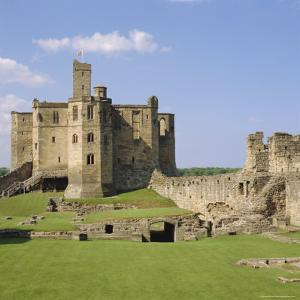 Warkworth Castle Dating from Medieval Times, Northumberland, England, UK by Michael Jenner