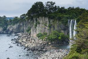 Jeongbang Pokpo Waterfall, Island of Jejudo, UNESCO World Heritage Site, South Korea, Asia by Michael