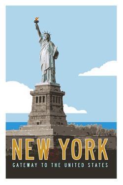 New York Travel Poster by Michael Jon Watt