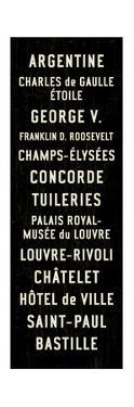 Paris Transit Sign by Michael Jon Watt