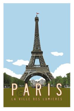 Paris Travel Poster by Michael Jon Watt