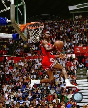 Michael Jordan 1987 Slam Dunk Contest Action