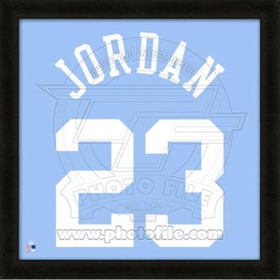 Michael Jordan, University of North Caralina representation of the player's jersey
