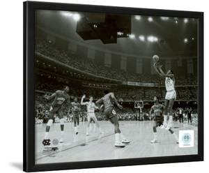 michael jordan winning basket in the ncu 1982 ncaa finals against georgetown framed photographic print - Michael Jordan Wings Poster Framed