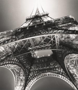 Eiffel Tower, Study 3, Paris, France, 1987 by Michael Kenna