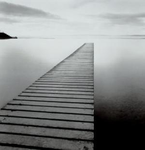 Plank Walk, Lancashire, England by Michael Kenna