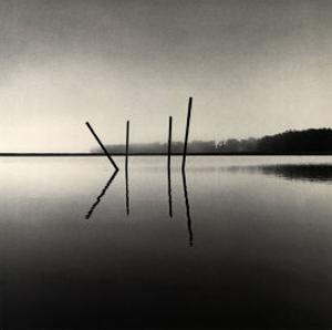 Poles, Moss Landing, California by Michael Kenna