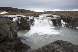 Landscape and Watefall, Iceland, Polar Regions by Michael