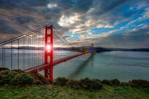 Sun through Golden Gate by Michael Lawenko Dela Paz