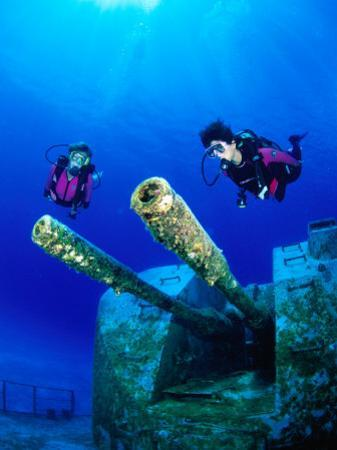 Diving Near the Shipwreck Mv Capt Tibbets off Cayman Brac, Cayman Islands by Michael Lawrence