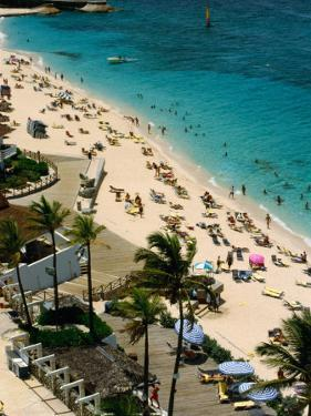 Overlooking Beach Activities on Paradise Island, Paradise Island, Bahamas by Michael Lawrence