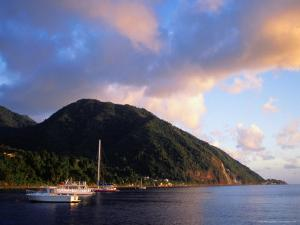 Yachts Moored South of Rouseau, West Coast, Roseau, Dominica by Michael Lawrence