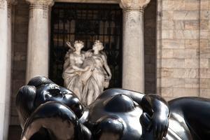 A Sculpture by Fernando Botero Outside the Palacio De Bellas Artes by Michael Lewis