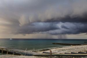 A Storm Rolls across the Bahia De Corrientes, the Location of One of Cuba's Best Dive Sites by Michael Lewis