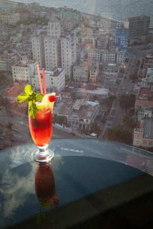 A Tropical Drink at La Torre, the Highest Lounge in Havana by Michael Lewis