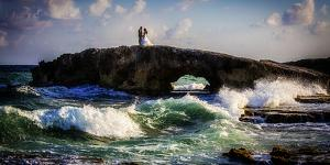Newlyweds on La Mirador on the East Side of Cozumel Island by Michael Lewis