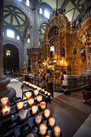 People Praying Inside the Catedral Metropolitana in Mexico City by Michael Lewis