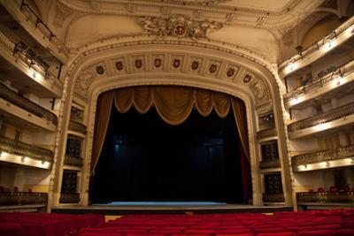 The Stage at the Gran Teatro De La Habana by Michael Lewis